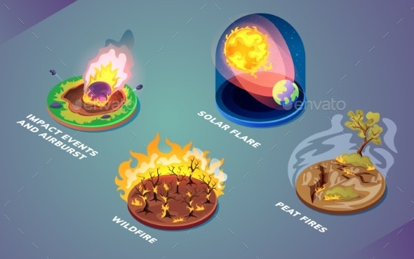 Natural Disasters or Environmental Cataclysm - Nature Conceptual