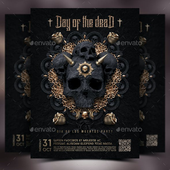 Halloween - Day Of The Dead Flyer