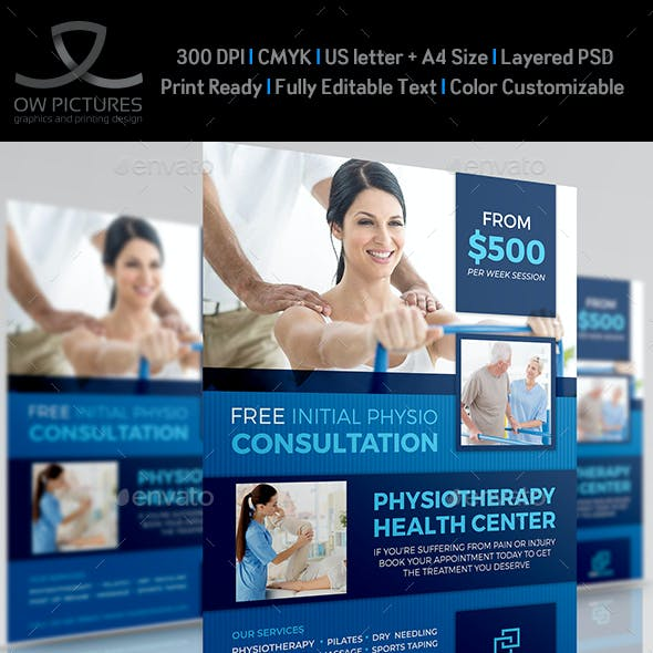 Physiotherapy Clinic Flyer Template