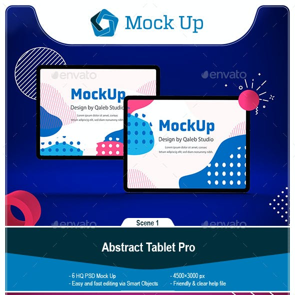 Abstract Tablet Pro Mockup