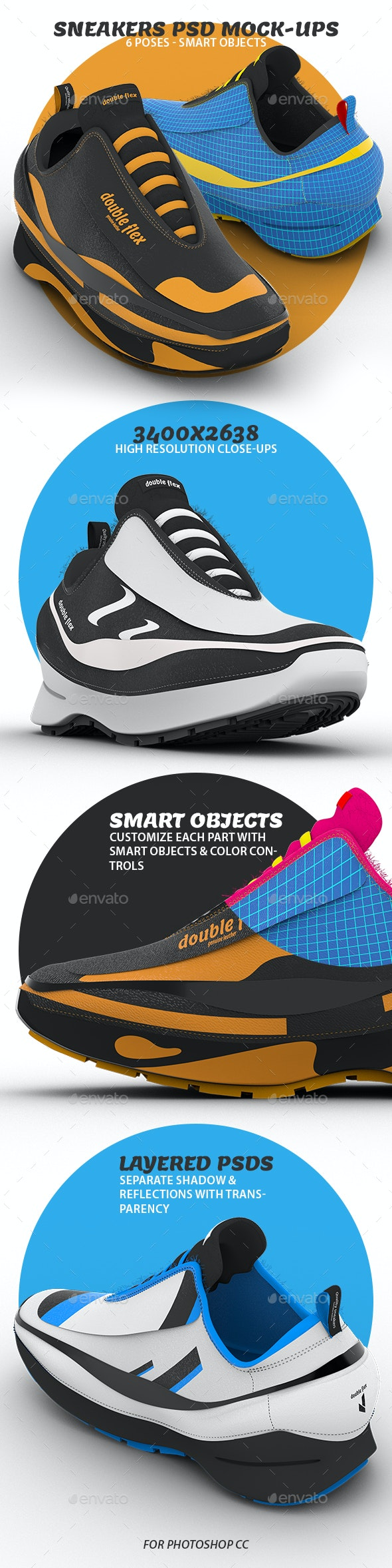 Sneakers PSD Mock-ups - Miscellaneous Apparel