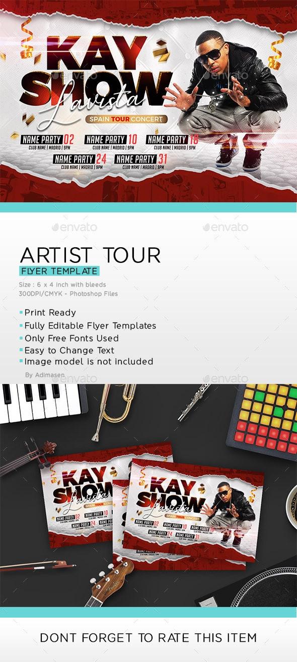 Artist Tour Flyer - Events Flyers