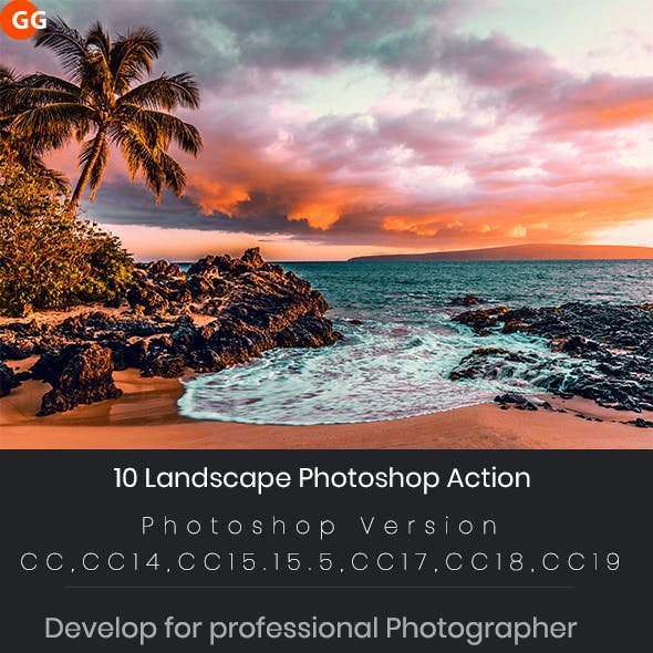 10 Landscape Photoshop Action