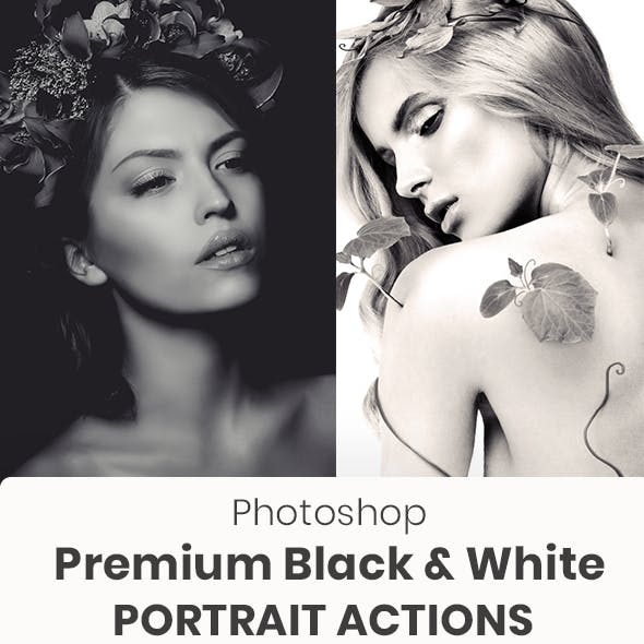 Black And White Portrait Photoshop Actions