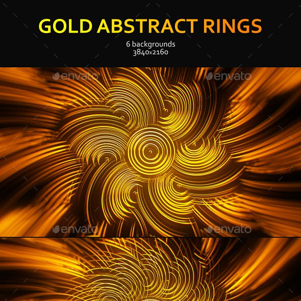Gold Abstract Rings