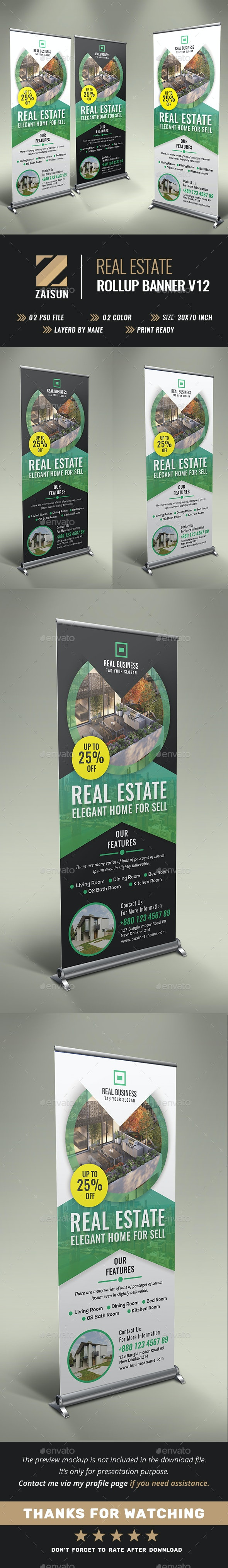 Real Estate Roll-Up Banner V12 - Signage Print Templates