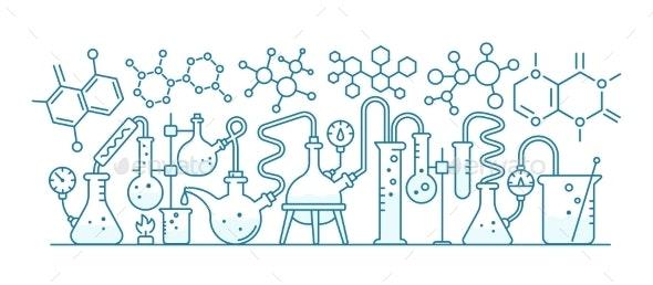 Chemical Formulas - Miscellaneous Vectors