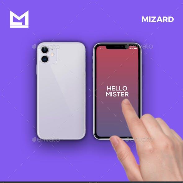 Animated iFone 11 Hand Swipe Mockup