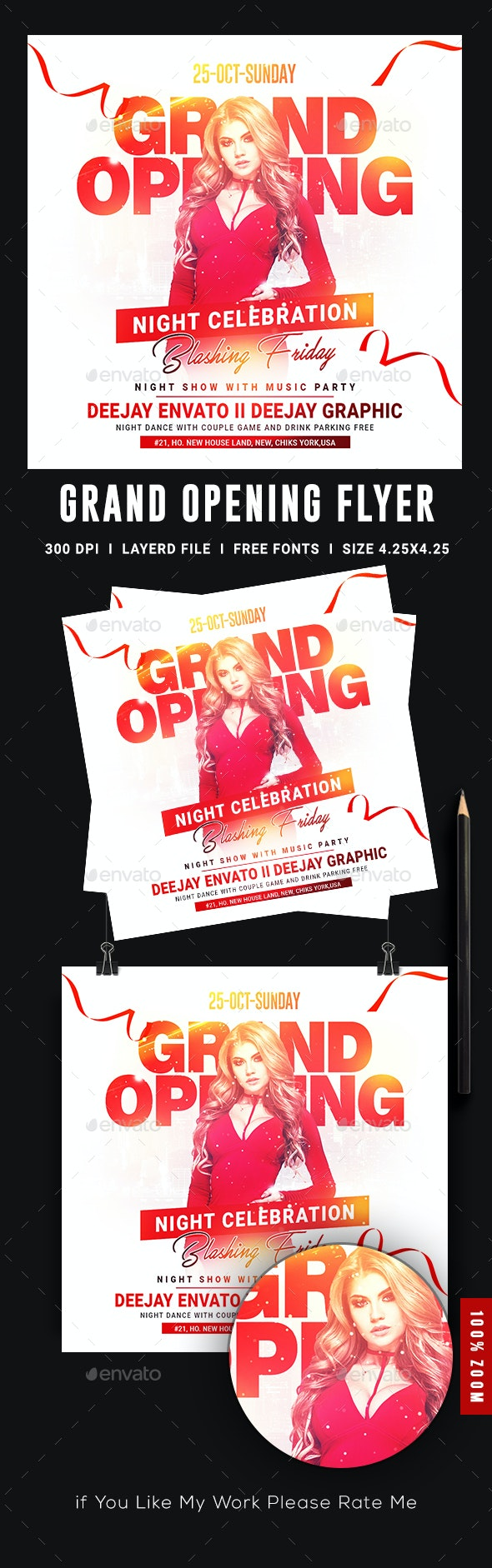 Grand Opening Flyer - Flyers Print Templates