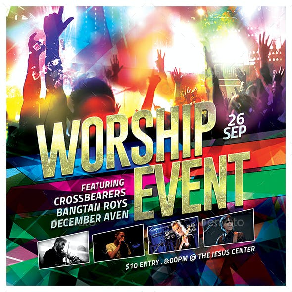 Worship Event Church Flyer