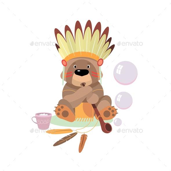 Сartoon Bear - Animals Characters