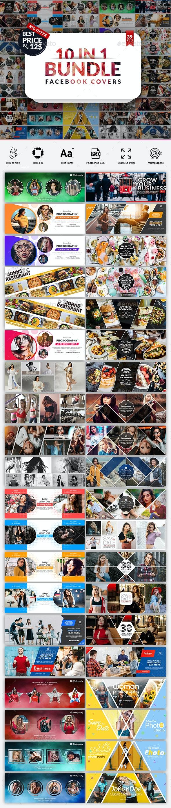 Facebook Cover Bundle - Facebook Timeline Covers Social Media