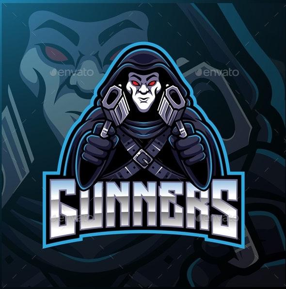 Gunner Mascot - People Characters
