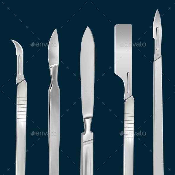 Set of Surgical Cutting Tools