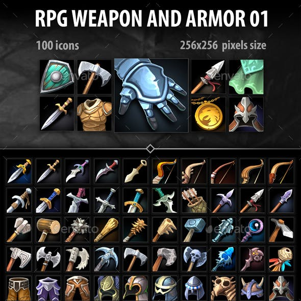 RPG Weapon and Armor 01