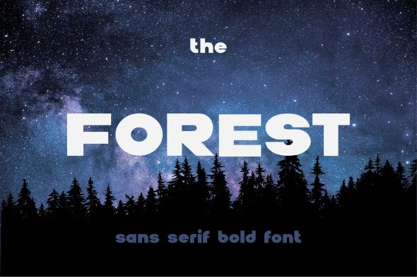 The Forest - Sans-Serif Fonts