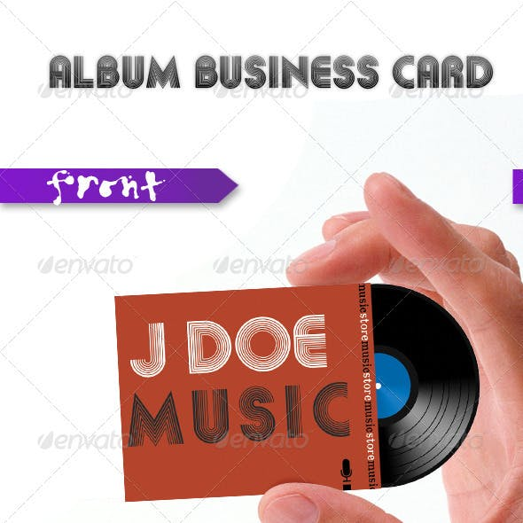Album Music Card