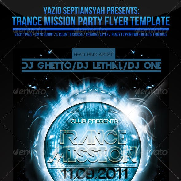 Trance Mission Flyer Template