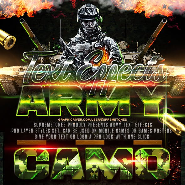 Army Photoshop Text Effects