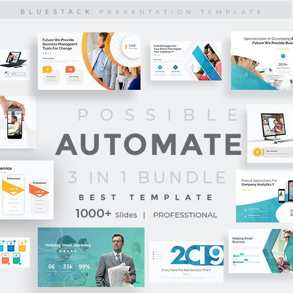3 in 1 Automate Possible Bundle Creative and Business Pitch Deck Google Slide Template