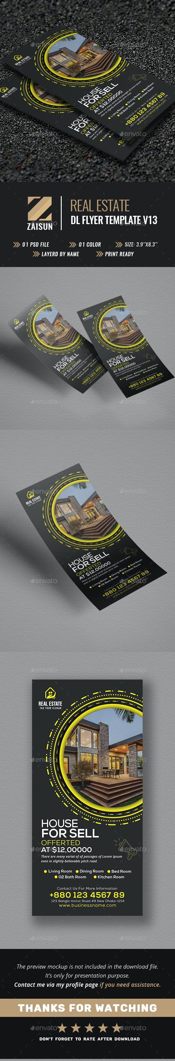 Real Estate DL Flyer V13 - Flyers Print Templates