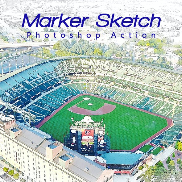 Marker Sketch Photoshop Action