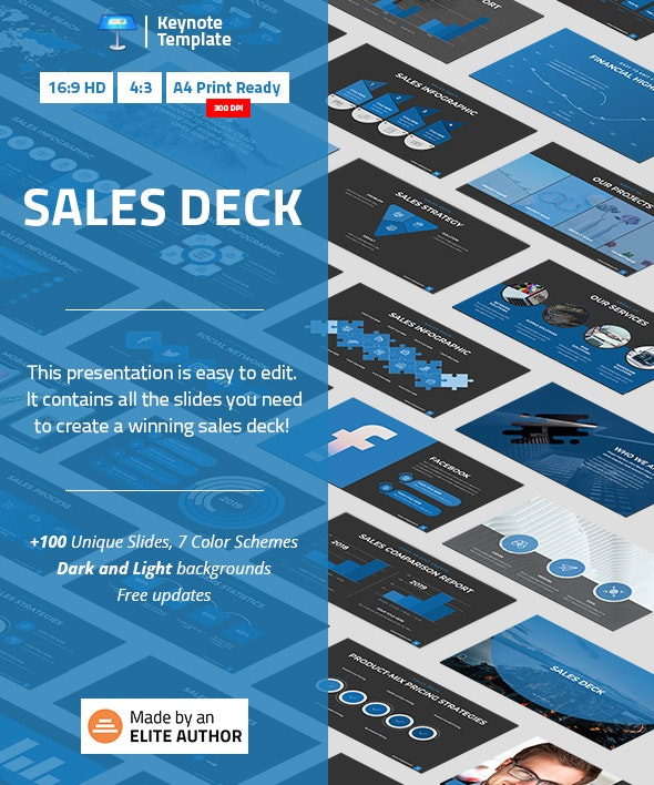 Sales Deck Keynote Template - Business Keynote Templates