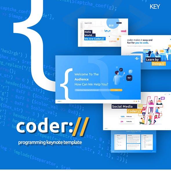 Coder Programming Keynote Presentation Template