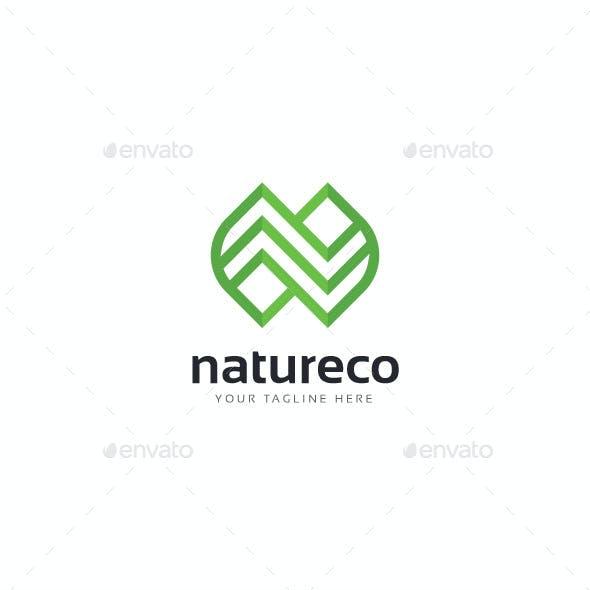 Letter N Natureco Logo