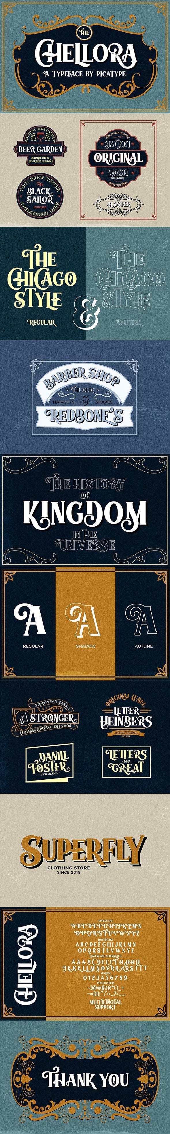 Chellora Typeface - Serif Fonts