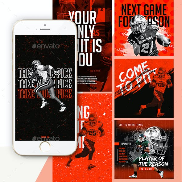 Football Sport Instagram Templates