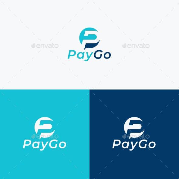 Pay Go Logo Design / P Letter