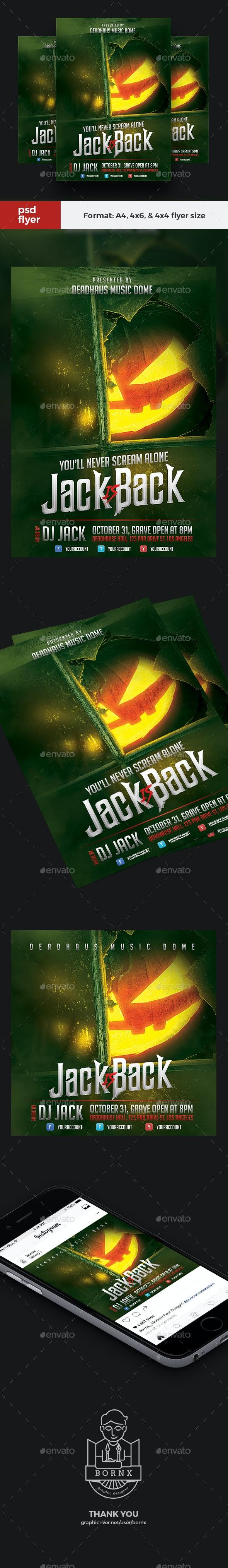 Jack O Lantern Halloween Flyer - Events Flyers