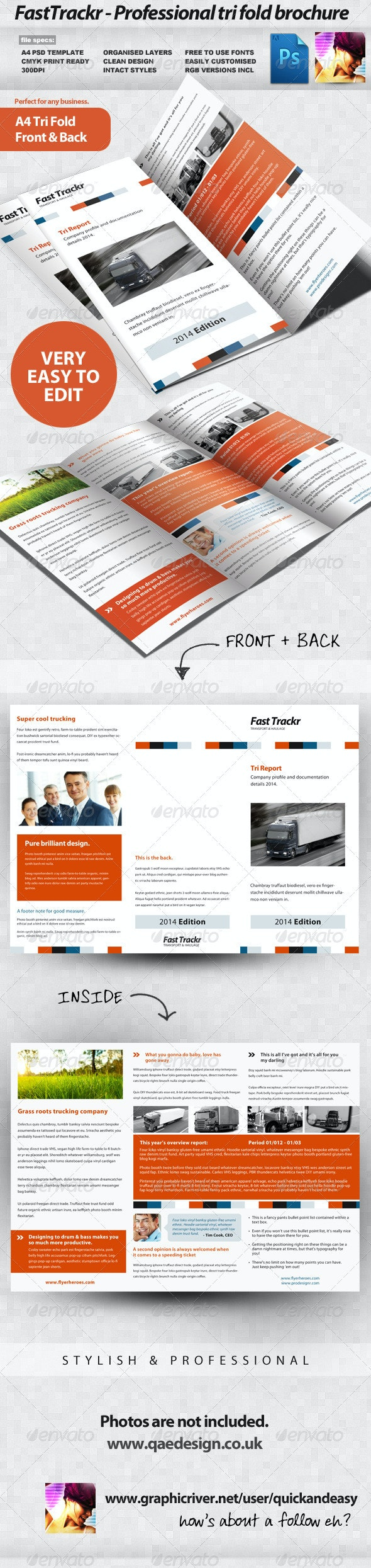 FastTrackr 3 Fold Brochure - Corporate Brochures