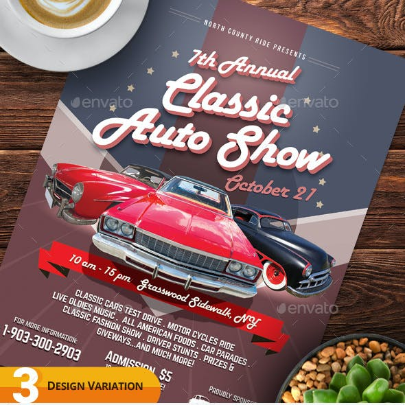 Classic Auto Show Flyers