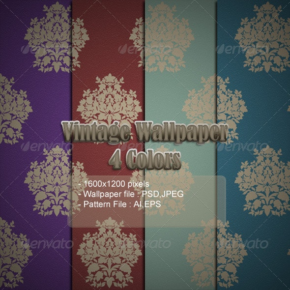 Vintage 4 Colors Wallpaper - Backgrounds Graphics
