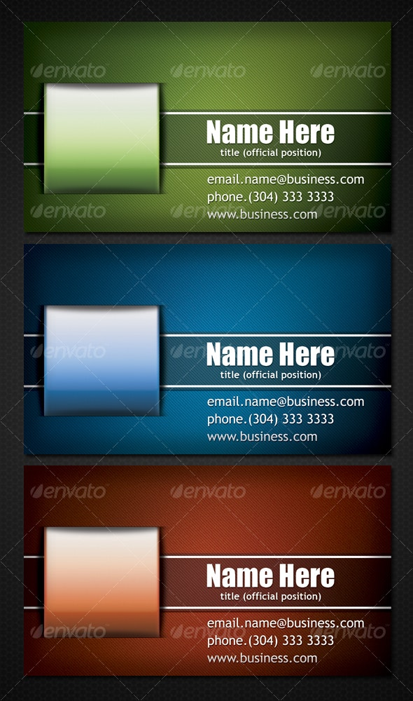 Business Card (3 Color Shemes) II - Corporate Business Cards
