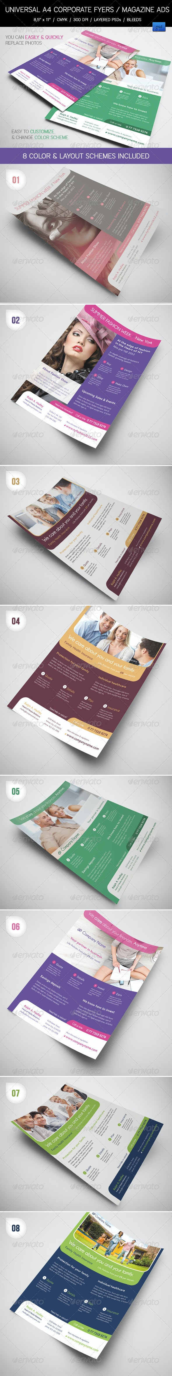8 Universal Corporate Flyers / Magazine Ads - Corporate Flyers