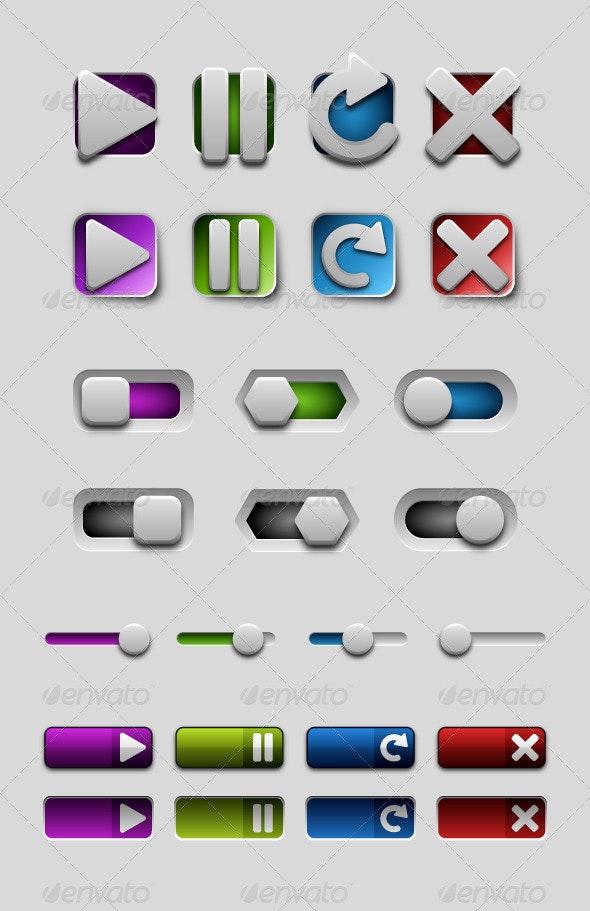 Design Audio & Volume Buttons - Decorative Symbols Decorative