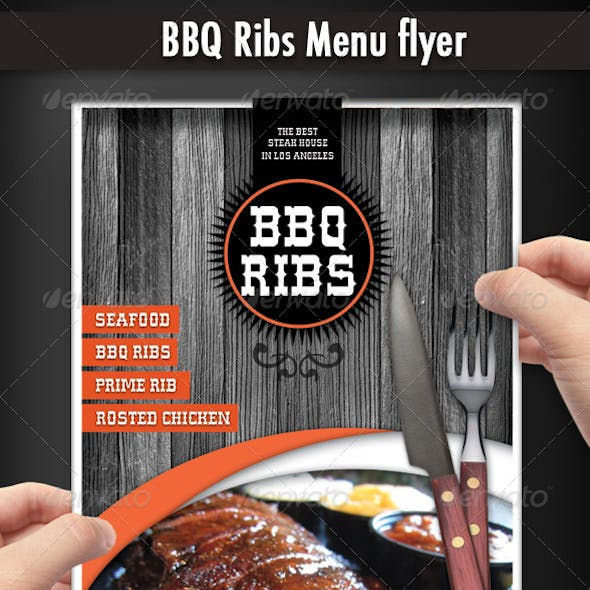 BBQ Restaurant Menu flyer