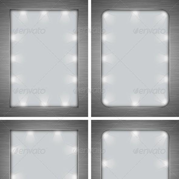Backgrounds Metal-lit Frame