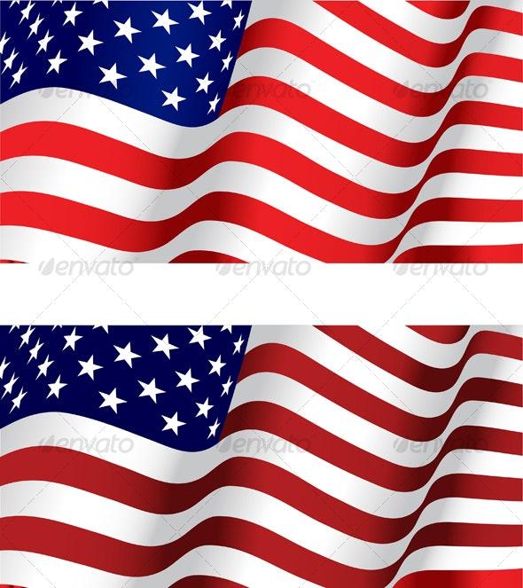 USA flag - Backgrounds Decorative