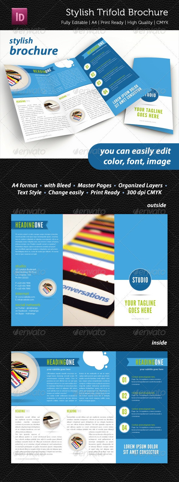 Stylish Trifold Brochure - Informational Brochures
