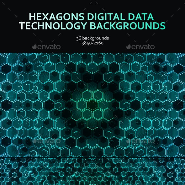 Hexagons Digital Data Technology Backgrounds