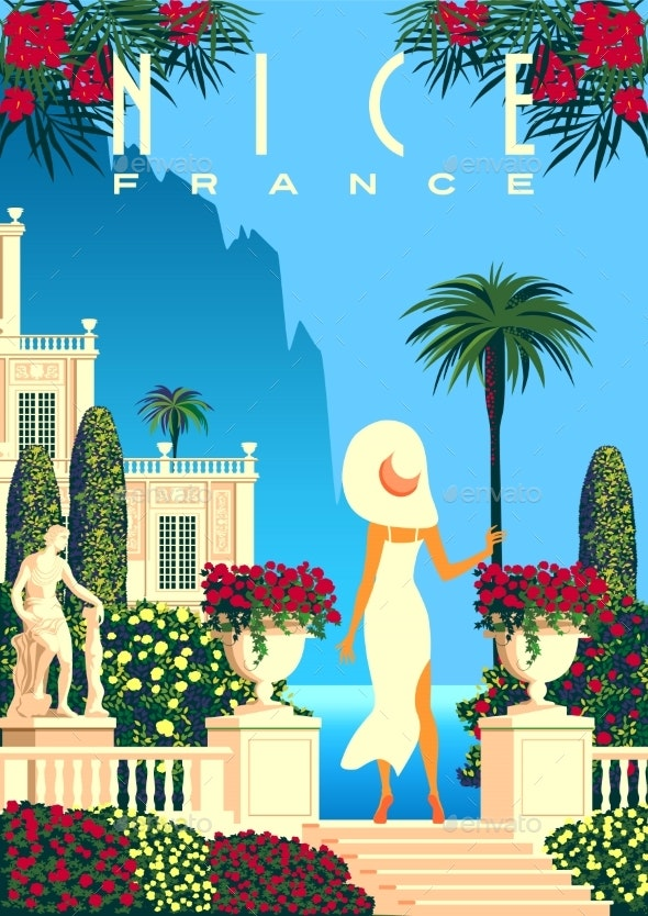 Woman on Vacation on French Riviera Coast - Sports/Activity Conceptual