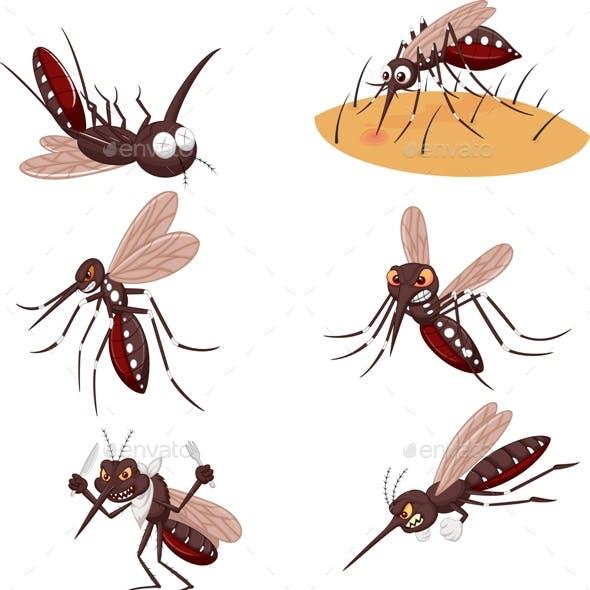 Mosquitoes Cartoon