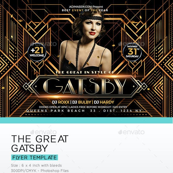 Gatsby Flyer Graphics Designs Templates From Graphicriver