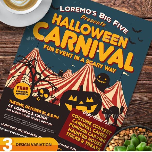 Halloween Carnival Flyer Templates
