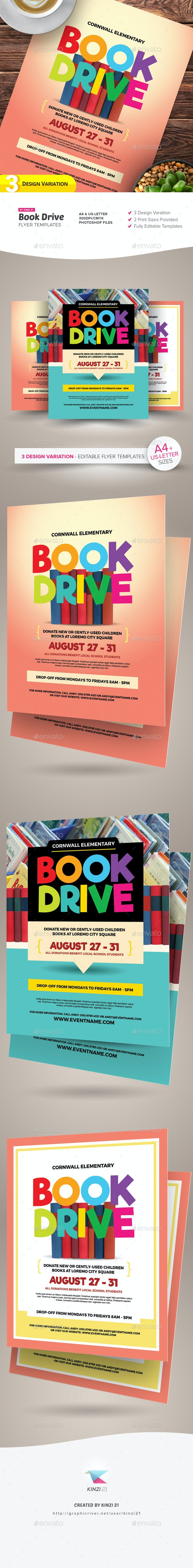 Book Drive Flyer Templates - Miscellaneous Events