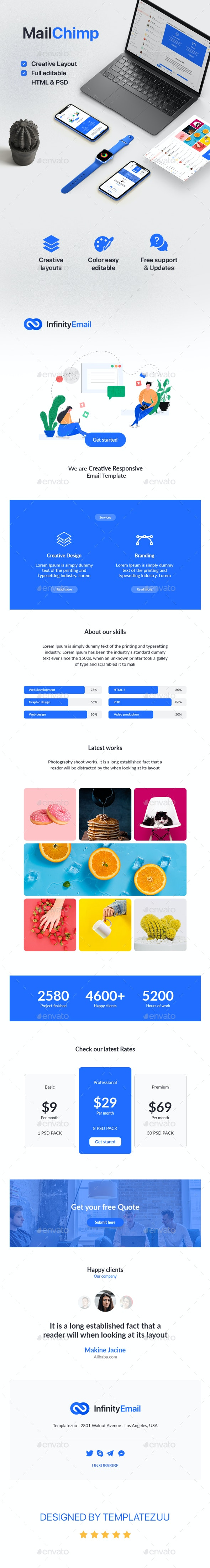 InfinityKit Mailchimp - E-newsletters Web Elements